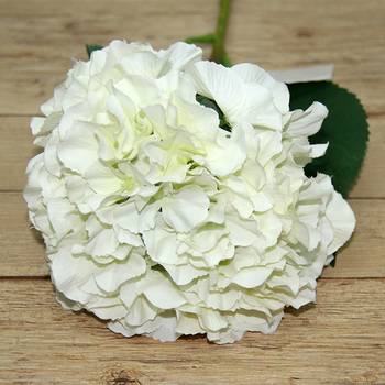Cheap Artificial Flower Real Touch Silk White Hydrangea Blue Hydrangea Flowers