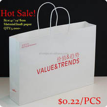 China manufacture good quality brown paper shopping's bag wholesales