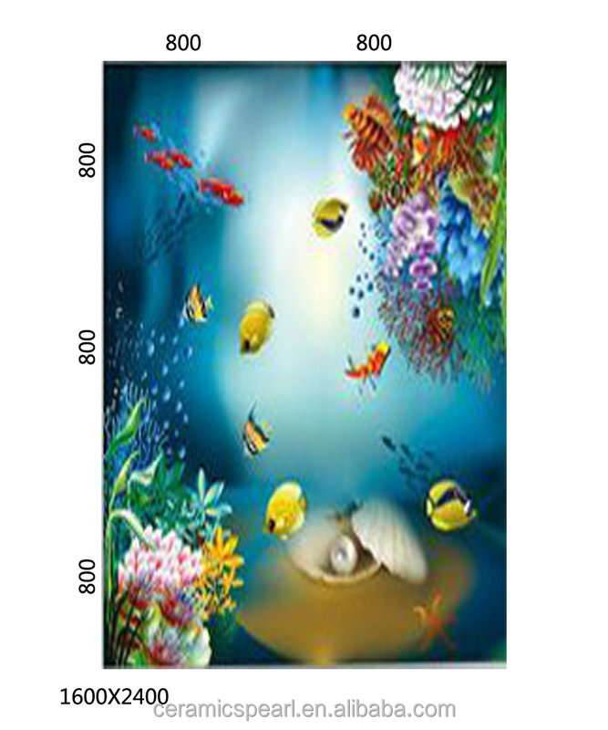 Decorative art tv background ceramic 3d wall panel tiles -DMW007