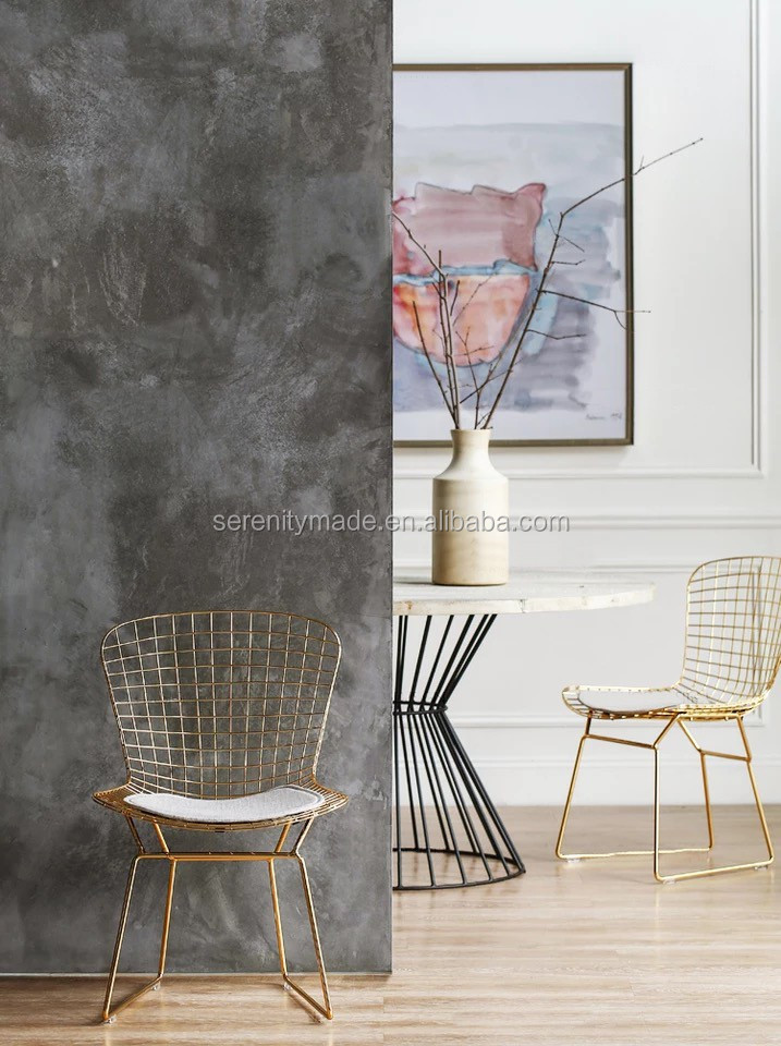 Replica Harry Bertoia Rose Gold Metal Wire Mesh Outdoor