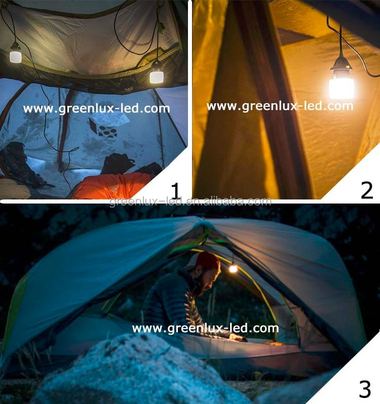 product New, Hiking portable 200lumen led tent USB lamp lantern with USB chain and Hook