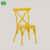 Wholesale stackable aluminum X back chair for wedding and event (E1090S yellow)