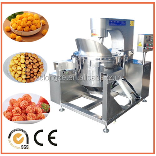Electric automatic operated popcorn machine for snack food