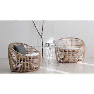 Outdoor Rattan Wicker All weather outdoor 2pc half round patio sectional garden sofa