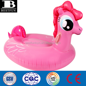 Pink My Big Pony Ride On Float Giant Inflatable Pool Float Pink Big Pony  Ride
