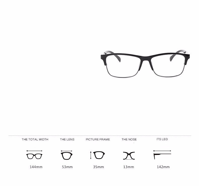 Wholesale Fashion Retro Semi-rimless Glasses Frame Brand Designer ...