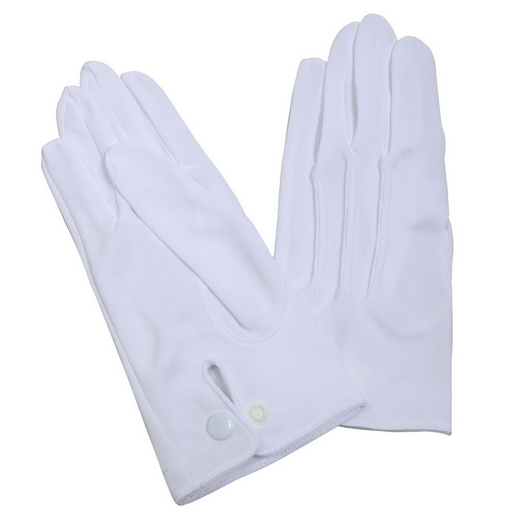 Ceremony Police Uniform White Nylon Military Parade Gloves