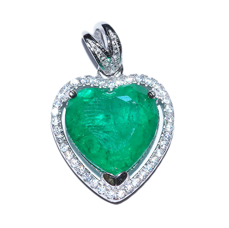 925 sterling silver necklace <strong>pendant</strong> jewelry, mineral-containing <strong>natural</strong> gemstone <strong>emerald</strong> jewelry <strong>pendant</strong>