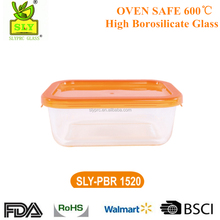 High borosilicate Glass Food Container With Lid BPA Free Microwave Use