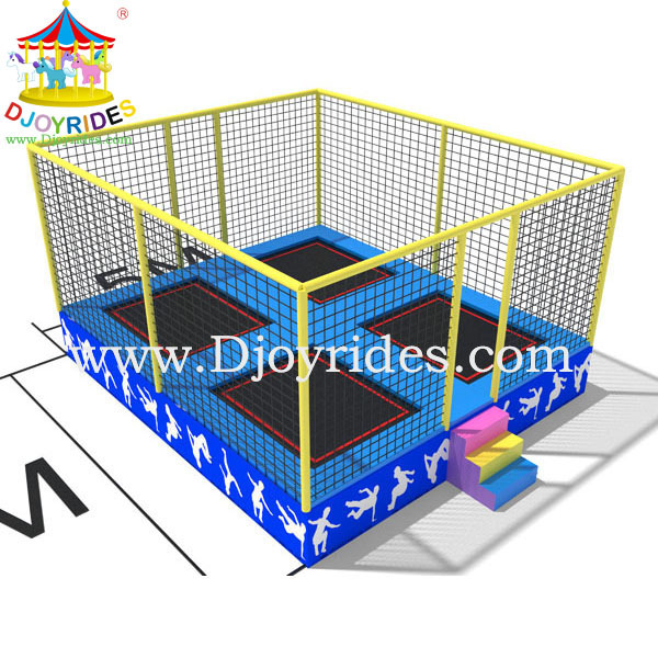 4-in-1 jumping bed square cool trampolines for sale
