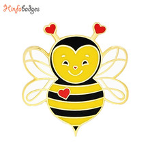 Leuke Liefde <span class=keywords><strong>Bee</strong></span> Valentijnsdag Harde Email Revers Pin Metalen Animal Honey <span class=keywords><strong>Bee</strong></span> Reversspeldjes