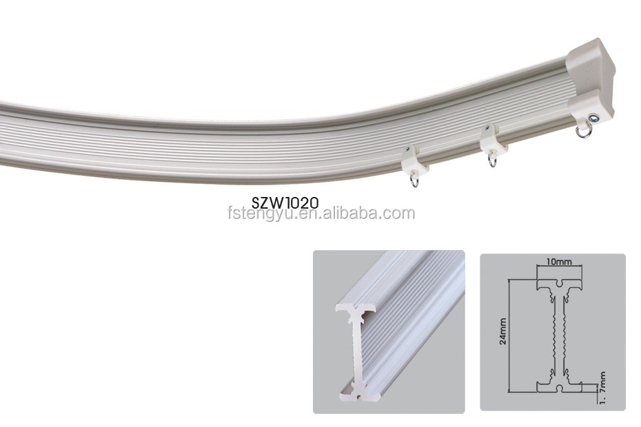Hospital Curtain Track System Pvc Curved Curtain Ceiling Tracks
