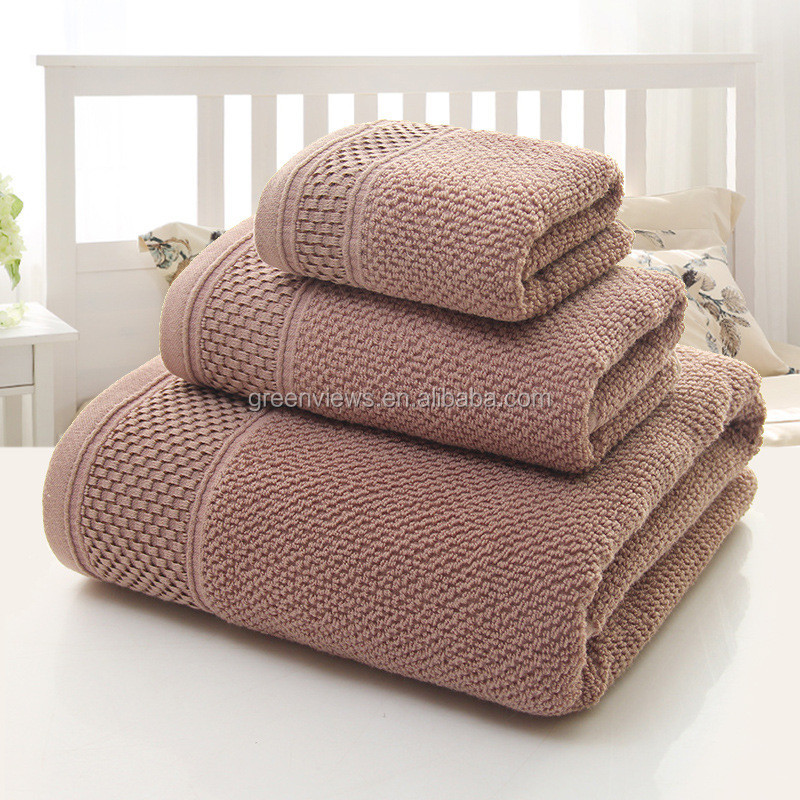 Alibaba Combed Cotton Towel Gift Set High Quality Hotel Cotton Bath