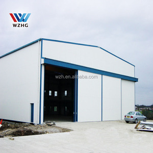 Prefabricated ready made steel structure houses workshop with crane