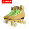 Wholesale Durable double layer cowhide PU wheels professional indoor ice rink quad Roller skates for rental