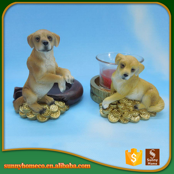 Various Styles Dog Resin Decoration Modern Resin Decoration