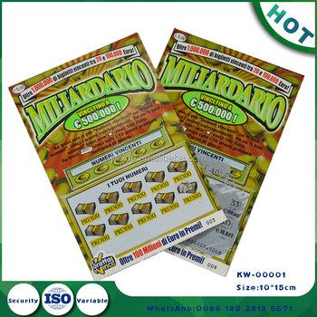 High Bonus Big Bonus Custom Lottery Scratch Security Tickets Hot Sale  Scratch Off Paper Ticket Lottery Tickets - Buy High Bonus Lotter  Tickets,Big