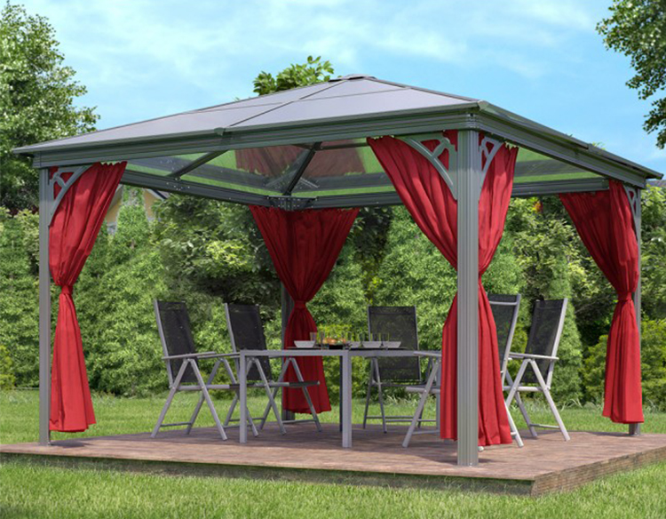 Luxury aluminum gazebo 3.6x3.6m gazebo party tent Luxury gazebo Luxury tent