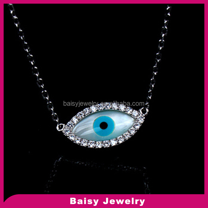 love style 925 Sterling Silver Evil Eye pendant Necklace wholesale