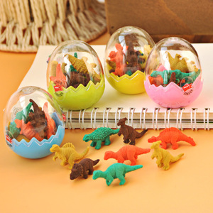 Best Selling 8 pcs/set Mini Cute Kawaii TPR Eraser Creative Dinosaur Eraser For Kids Gift Korean Stationery