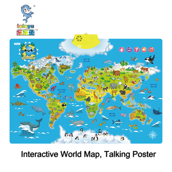 I Poster Interactive World Map Educational Talking Toy For Boys And Girls Ages 5 To 12 Years Old Ideal Gift For Kids Buy Interactive