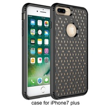 2017 New Design TPU and PC Grid phone case for iphone 8 plus mobile , also fit for iphone 7 plus
