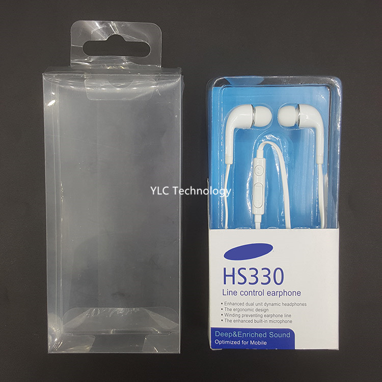 in ear earbuds headset for samsung s4 earphone with plastic packaging box j5 earphone earpiece made in China
