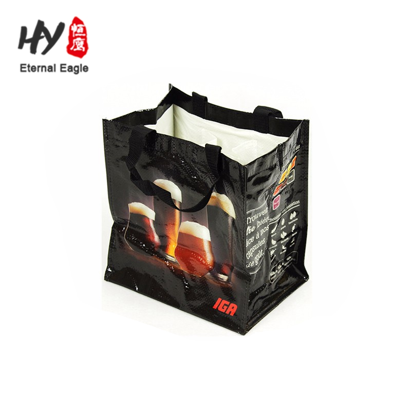 Foldable Market Shopping TNT Recycled Grab non woven Bag