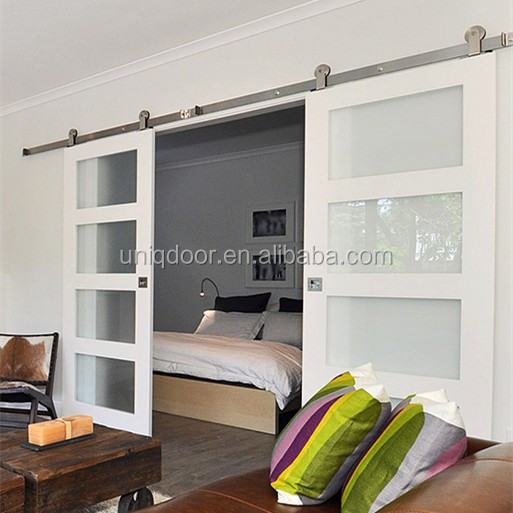 Interior Bedroom Glass Sliding Barn Doors With Hardware For Sale Buy Interior Barn Doors For Sale Sliding Barn Door Sliding Door Product On