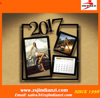 Wall Calendar Frame 2017 photo frame calendars,acrylic calendar holder,magnetic