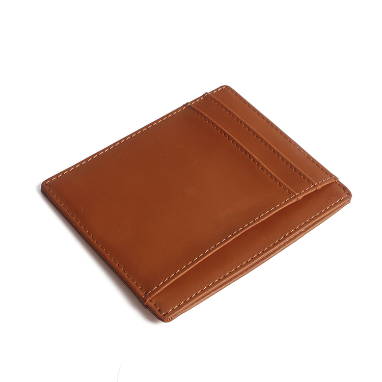 RFID Blocking Wallet Men Minimalist Genuine Leather Slim Front Pocket Wallet Thin Credit Card Holder