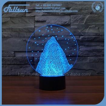 FS 3033 Bulb 3d Model Free Night Light Pediatrics Snow Mountain Shape With  7 Colours