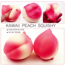 OLEEDA 8CM Kawaii Pink Peach Squishy Phone Charms Strap Soft Super Slow Rising Fruit Squishies Pendant Bread Kids Toy