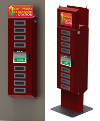 New Design Slim Public Mobile Phone Charging Station Kiosk With ...