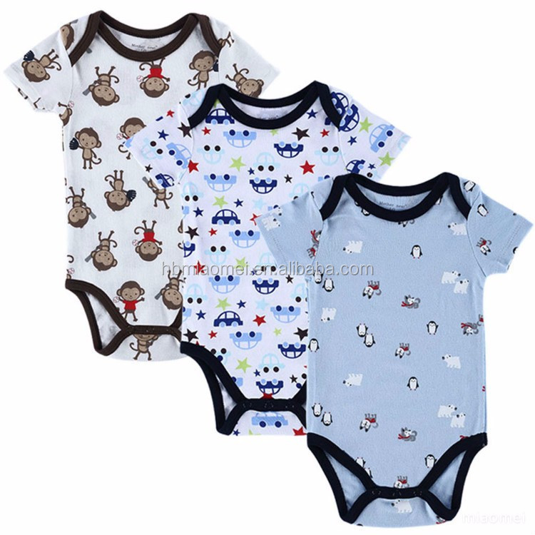 0 3 Months Soft Stylish Organic Cotton Baby Boy Clothes Printed Baby