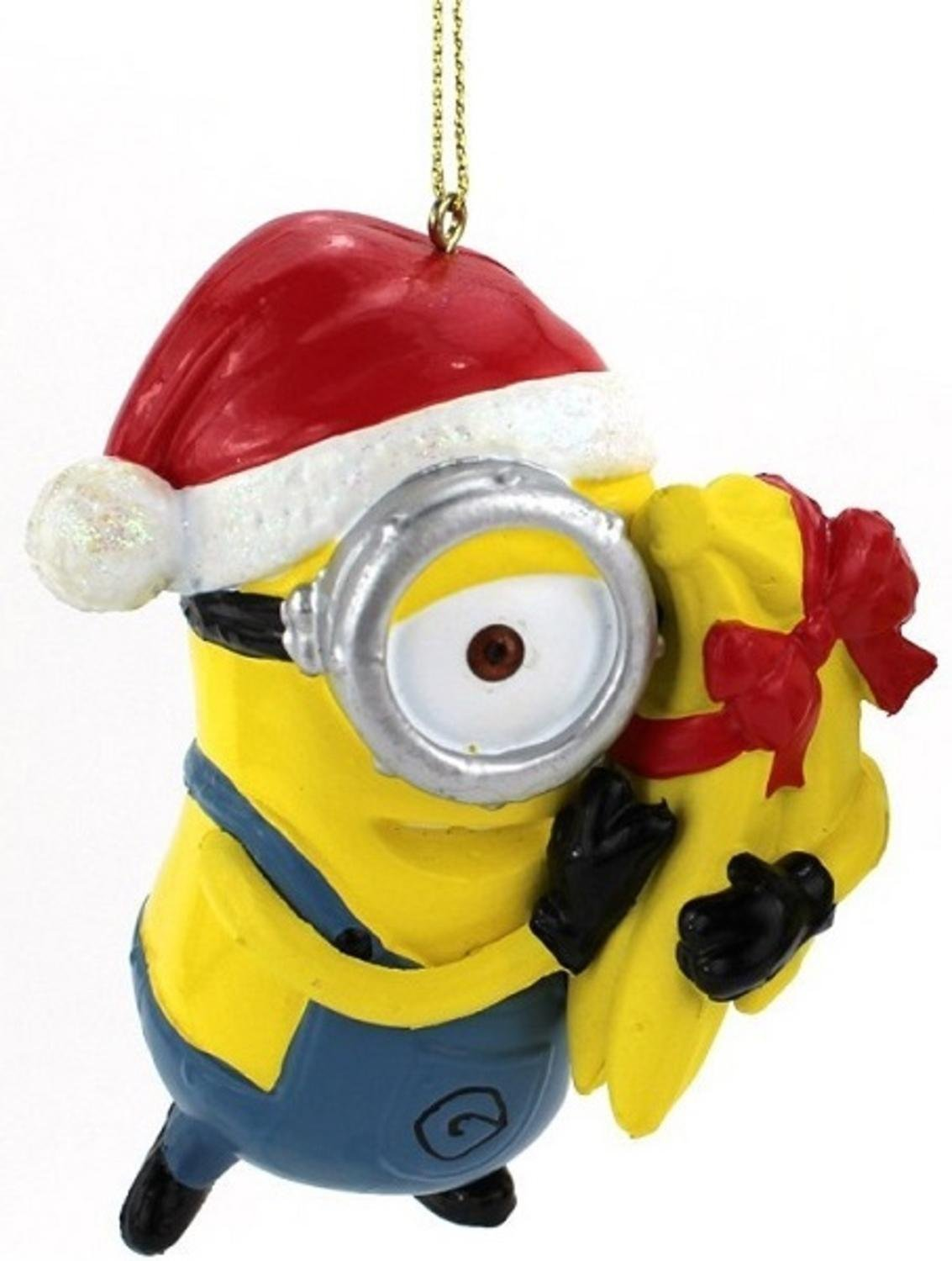 get quotations 35 despicable me minion carl with gift wrapped bananas christmas ornament