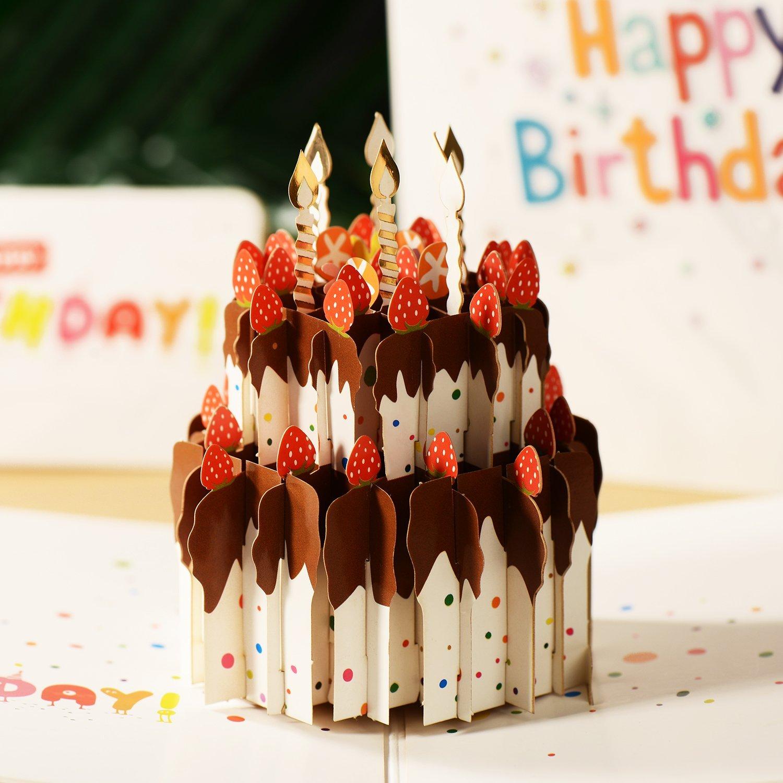 Get Quotations 3D Pop Up CardBestfy Premium Happy Birthday Greeting CardCreative Handmade