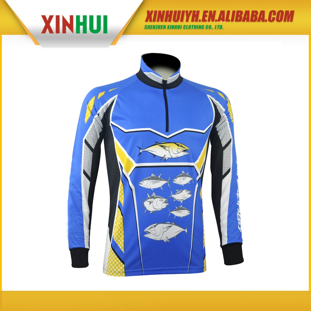 Fashion polyester long sleeve quick dry fishing t shirt for Polyester fishing shirts