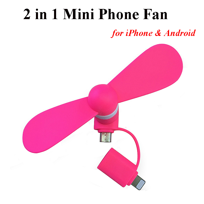 Wholesaler 2 in 1 for iPhone Android <strong>Fan</strong> Micro USB Portable Mini <strong>Fan</strong> Mobile phone <strong>Fan</strong>