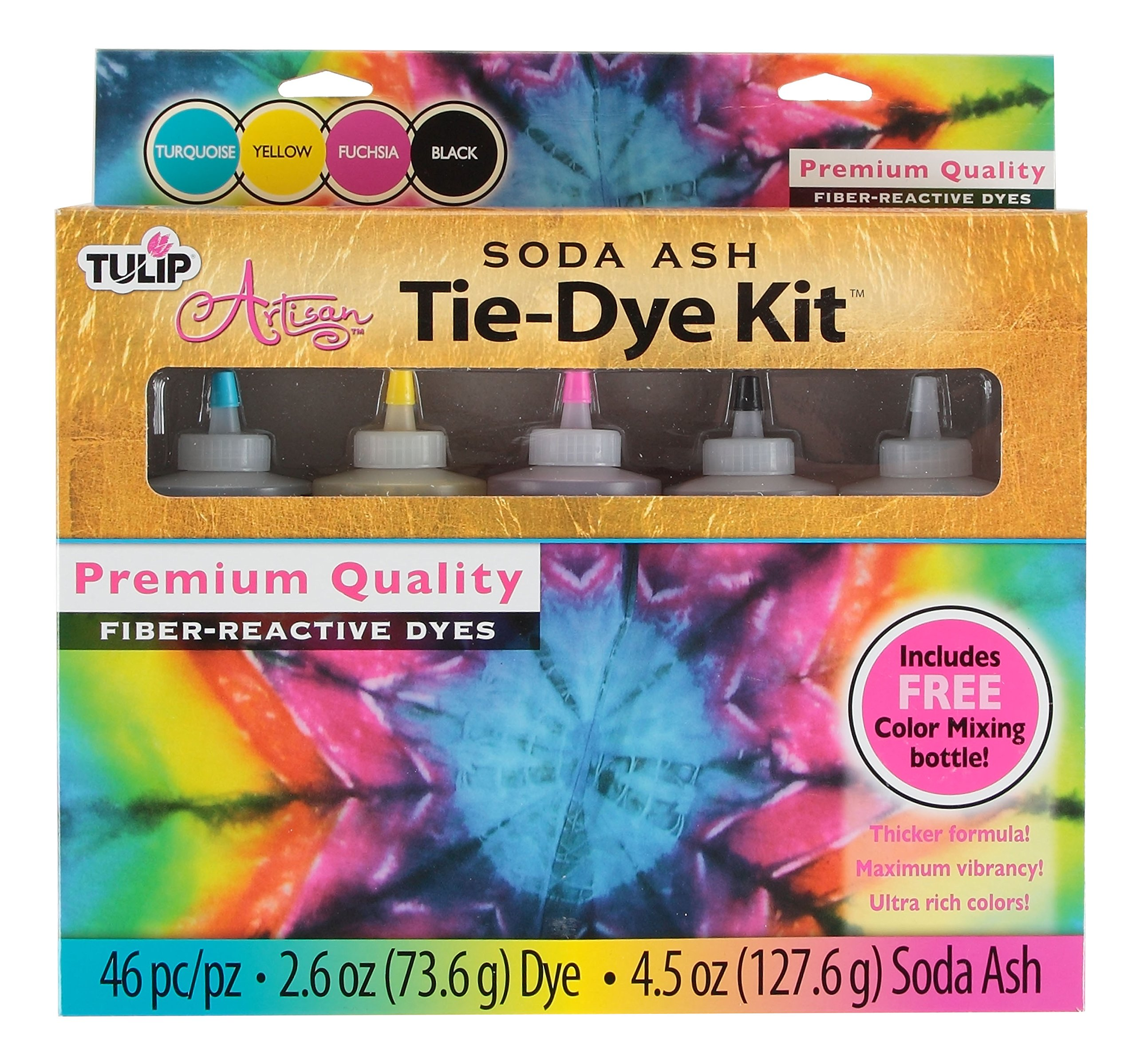 Tulip Artisan Soda Ash Tie-Dye Kit with Color Mixing Bottle