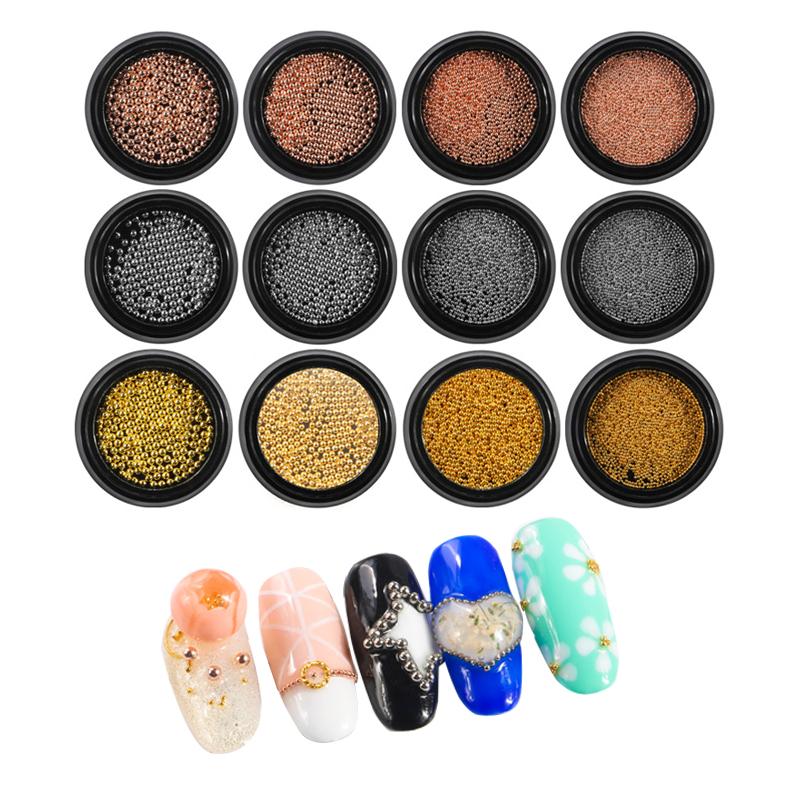 Qimyar Nail Art Beads Decorations Caviar 3d Studs Nails Caviar