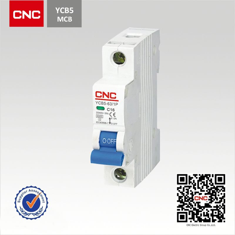 Popular YCB5-63 mcb mccb circuit breaker rccb earth leakage