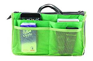 1pcs Lady Women Insert Handbag Organiser Purse Large Liner Organizer Bag Tidy Travelbrand New Green