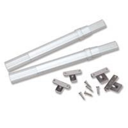 Graber Crystal Clear Sash Curtain Rods - 2 Rods per Package(7 to 11 1/2-Inch Adjustable Width, Clear)