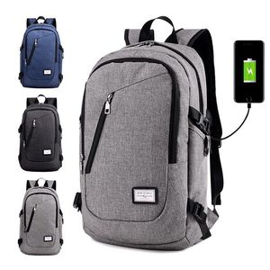 Popular Design Waterproof Grey Color Material Alibaba China Factory 35L Cheap Wholesale USB Charging Backpack Bag