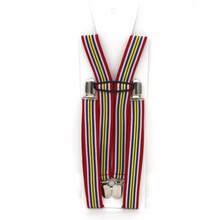 25H4J01HSL-05 Boys bavarian suspenders Clip-on braces for men