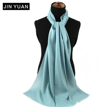 china factory blue pashmina solid scarf From Inner Mongolia