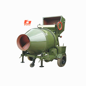 JZC350 rotating climbing tipping bucket construction used 350L small mini portable Electric mobile cement concrete mixer