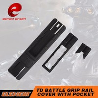 Element TD Battle Grip Rail Cover With Pocket Tactical Flashlight Accessory OT 0807