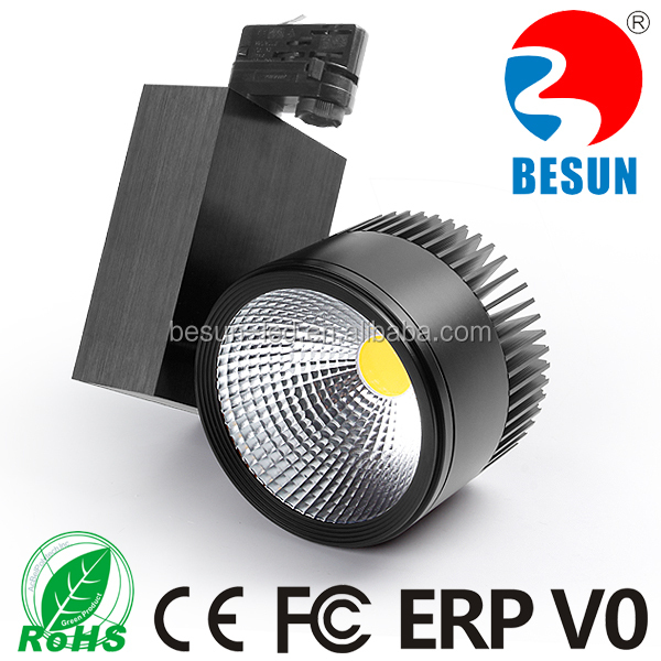 New arrival CE ROHS ERP V0 FCC listed 4 wire 3 circuit 40W cob led track light